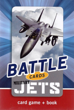 Battle Cards: Military Jets Card Game + Book Set