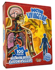 Dr Livingston Jr. Human Body 100 Piece Floor Puzzle